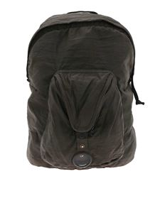 CP Company - Backpack in moss green color technical fabric
