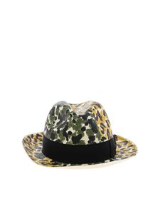 Borsalino - Ivory hat with animalier pattern