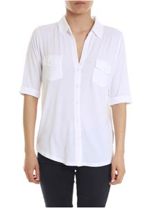 Majestic Filatures - Jersey shirt in white