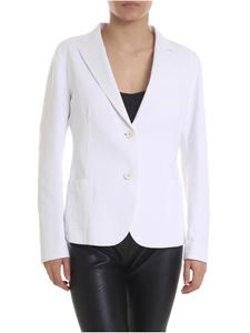 Eleventy - Raw cut jacket in white