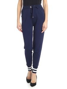 Ermanno by Ermanno Scervino - High waist stretch trousers in blue