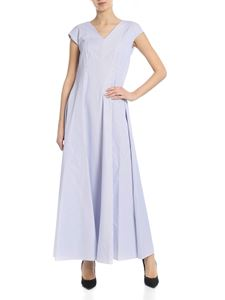 Le sarte pettegole - Striped dress in white and blue