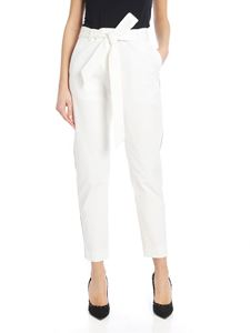 Eleventy - Sash trousers in white