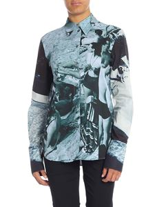 Paul Smith - Shirt with green photo print