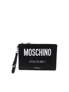 Moschino - Black clutch with Moschino Couture Milano logo