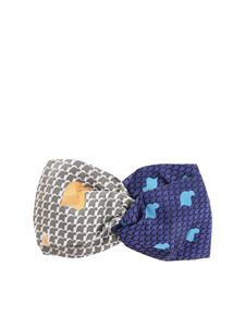Vivienne Westwood  - Headband in blue and grey
