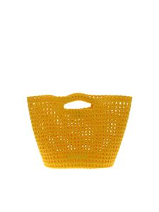 Melissa - Shoulder bag in yellow scented rubber
