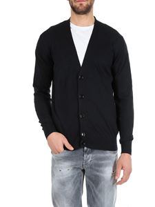 Dondup - Cardigan in blue cotton and cashmere