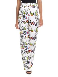 Versus Versace - White palazzo trousers with multicolor print