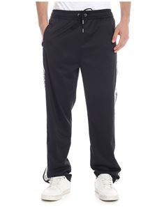 Versace Jeans - Black trousers with logo bands
