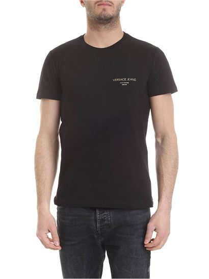 42c468d0b Versace Jeans Spring Summer 2019 black t-shirt with versace jeans ...