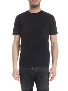 dc99871cb4a8f5 Versus Versace - Black T-shirt with embossed Versace logo