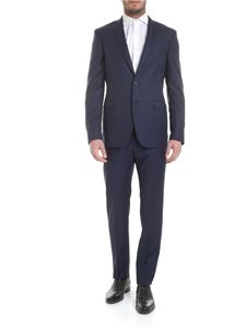 Tonello - Blue melange virgin wool suit