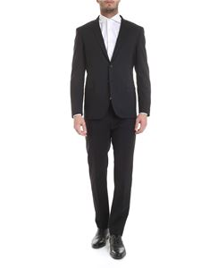 Tonello - Virgin wool suit in black