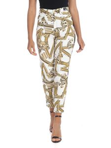 Versace Jeans - White 5-pockets printed jeans