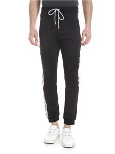 Versace Jeans - Black trousers with Versace Jeans bands