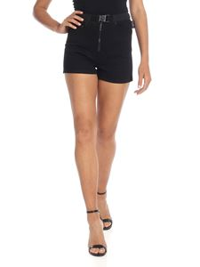 Versus Versace - Black 5-pockets shorts with branded buckle