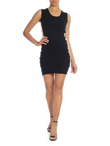 Versace Jeans - Black sleeveless dress with logo bands