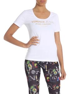 Versace Jeans - White T-shirt with Versace Jeans print