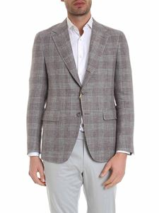 Canali - Textured jacket in shades of brown