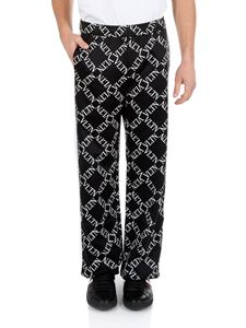 Valentino - Trousers in black with Vltn print
