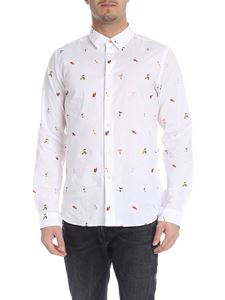PS by Paul Smith - Camicia in cotone stretch bianco