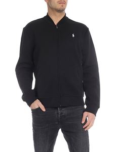 POLO Ralph Lauren - Black stretch cotton sweatshirt