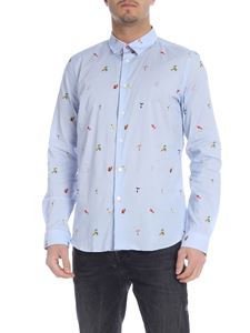 PS by Paul Smith - Light blue shirt with multicolor print