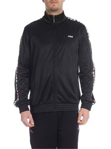 Fila - Black sweatshirt with Fila bands