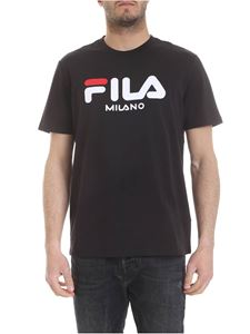 Fila - Black T-shirt with Fila embroidery