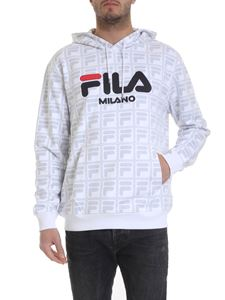 Fila - White monogram hooded sweatshirt