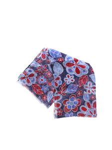 L.B.M. 1911 - Scarf in blue with floral print