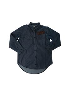 Fendi Jr - Chambray shirt in midnight blue