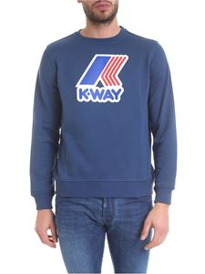 K-way - Augustine Macro Logo sweatshirt in teal blue