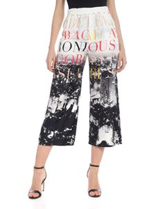 Elisabetta Franchi - City printed crop trousers