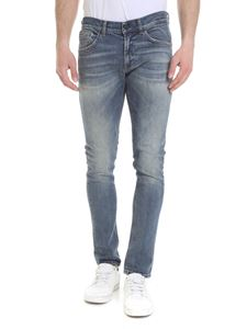 Dondup - Washed effect George jeans in light blue