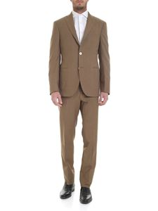 The Gigi - Virgin wool and brown linen suit