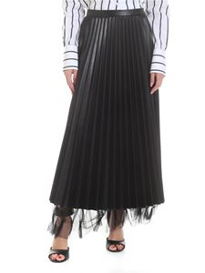 Ermanno Scervino - Pleated skirt in black eco-leather