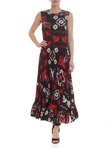 Red Valentino - Long black dress with Terrazzo print