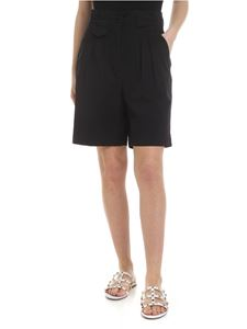 Etro - Shorts neri con pinces