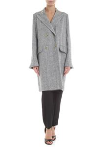 Ermanno Scervino - Herringbone coat in black and white