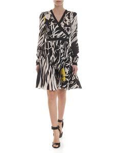 Etro - Floral dress in white and black silk