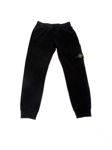 Stone Island Junior - Sweatpants in black cotton