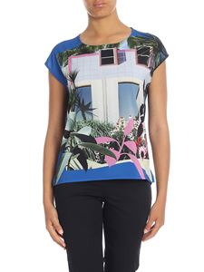 Paul Smith - T-shirt nera stampa Tropical Miami