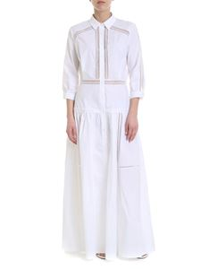 Ermanno Scervino - Embroidered flared chemisier in white