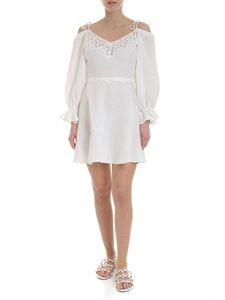 Ermanno Scervino - Embroidered linen dress in white