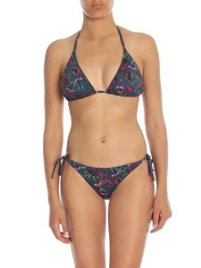Paul Smith - Bikini top in midnight blue with floral print