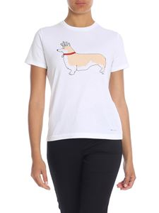 Paul Smith - T-shirt in white with Corgi print