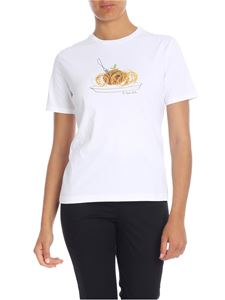 Paul Smith - T-shirt in white with spaghetti print