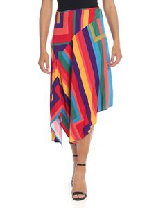 Paul Smith - Skirt in multicolored with asymmetrical bottom